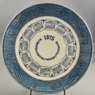 1975 Currier & Ives Blue Collector Calendar Plate by Royal