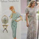 Simplicity 7813 Sewing Pattern Misses' Dress w/ Slim or Flared Skirt Size 12-16