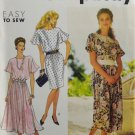 Simplicity 7324 Sewing Pattern Misses' Dress w/ Full or Slim Skirt Size 8-16