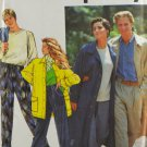 Simplicity 7584 Sewing Pattern Unisex Unlined Coat & Pull-On Pants Size XS - XL