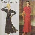 Simplicity 7620 Sewing Pattern Misses Dress & Belt Vintage Style Size 12-16