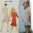 Simplicity 7753 Sewing Pattern Misses Dress w/ Pleated Flounce Size 12-16