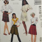 McCall's 6110 Sewing Pattern Misses Skirts w/ 4 Variations Size 10-12-14