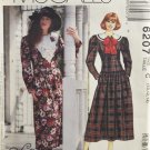 McCall's 6207 Lanz Design Sewing Pattern Misses Dress w/ Dropped Waist Size 10-12-14