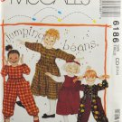 McCall's 6186 Sewing Pattern Jumping Beans Children's Dress or Jumper & Jumpsuit Size 2-3-4
