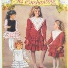Butterick 6502 It's Enchanting Sewing Pattern Girls' Dress w/ Ruffles Size 2-3-4