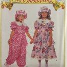 Butterick 6671 It's Enchanting Sewing Pattern Girls' Dress Jumpsuit & Hat Size 2-3-4