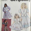 Simplicity 7698 Daisy Kingdom Sewing Pattern Girls' Romper & Dress 3-5