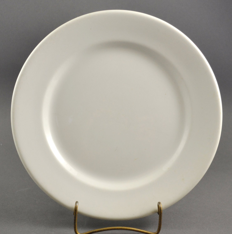 Mid-Century Sterling White Restaurant Ware Dinner Plate