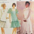 Simplicity 7056 Sewing Pattern Jessica McClintock Misses' Drop Waist Dress Size 10-18