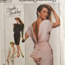 Simplicity 8944 Sewing Pattern Christie Brinkley Collection Misses' Dress w/ Plunging Back Size 10