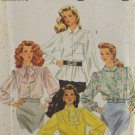Simplicity 9924 Sewing Pattern Misses' Blouses w/ Long Sleeves Size 6-14