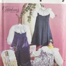 Simplicity 7591 Sewing Pattern Oliver Goodin Girl's Jumper & Jumpsuit w/ Smocking Size 2-4
