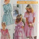 Butterick 3038 Sewing Pattern Girls' Child's Formal Dress Ruffles Size 4-6