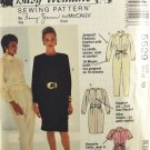 McCall's 5529 Busy Woman's Sewing Pattern Dresses Jumpsuit & Belt Size 10