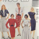 McCall's 5316 Fashion Basics Sewing Pattern Misses' Dress & Jacket Size 12
