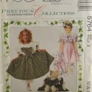 McCall's 5764 Precious Collections Sewing Pattern Girl's Dress & Bear Doll Size 2