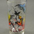 Vintage Glass Tumbler w/ Woodcocks or Shorebirds in Marsh Setting