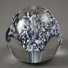 Vintage Royal Blue with White Floral Paperweight