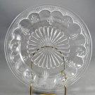 Adams Fleur-de-Lis & Drape Tassel Clear Relish Plate Dish EAPG