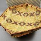 Avon 1986 Pastel Collection Decorated Hexagonal Woven Bamboo Basket