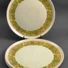Set of 4 Royalon Melmac Vintage Dinner Plates Inca Pattern
