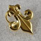 Avon 1989 Fleur-De-Lys Scarf Ring Goldtone
