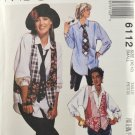 McCall's 6112 Sewing Pattern Misses' Shirt Vest & Necktie Size Small