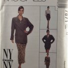 McCall's 7871 Sewing Pattern Misses' Lined Jacket Blouse & Skirt The NY Collection