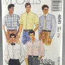 McCall's 4641 Sewing Pattern Men's Shirts Size 17 1/2 Neck Size Fashion Basics