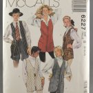 McCall's 6227 Misses' Long Lined Vests Sewing Pattern Size 8-12