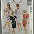 McCall's 5903 Sewing Pattern Misses' Two-Piece Dress Size 8-12