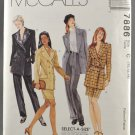 McCall's 7886 Sewing Pattern Misses' Jacket Skirt & Pants Sizes 10-14