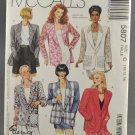 McCall's 5807 Sewing Pattern Misses' Unlined Jacket Sizes 10-14