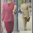 Vogue 8143 Sewing Pattern Misses' Jacket Skirt Pants Size 8-10-12 Very Easy Career