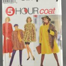 Simplicity 8074 Sewing Pattern Misses' 5 Hour Coat & Scarf Size AA PT-MD