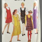 Simplicity 7939 Sewing Pattern Misses' Jumpers w/ Pleated Skirt Option Size 10-14