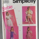 Simplicity 7430 Sewing Pattern Child's Barbie Dress Up Costumes Sizes 3-8