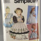 Simplicity 7699 Sewing Pattern Daisy Kingdom Child's Dress & Pinafore Size 2-4