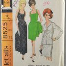 McCall's 8525 Sewing Pattern Misses' Sleeveless Dress in 2 Lengths w/ Jacket Sizes 10