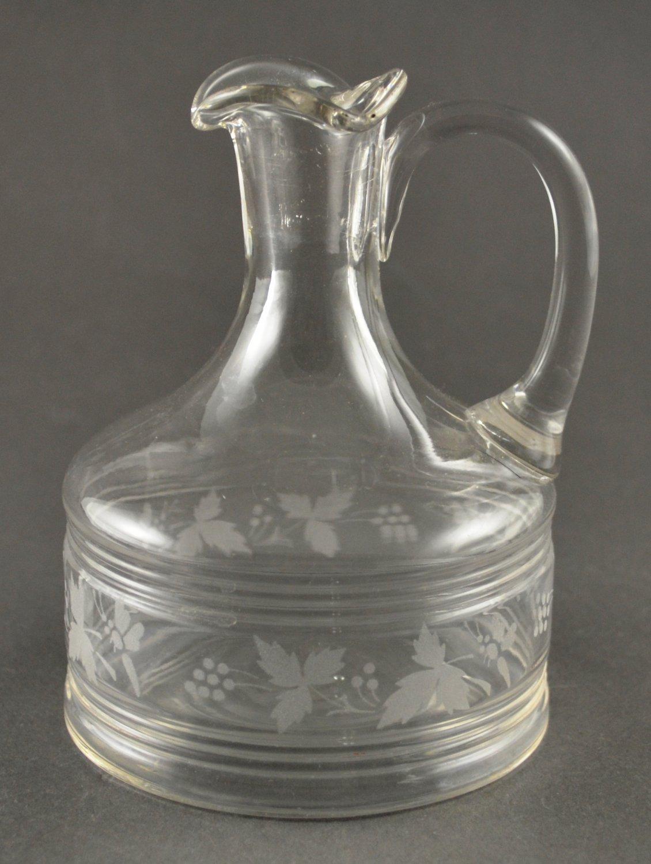 Vintage Clear Glass Vinegar or Salad Dressing Cruet