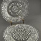 Vintage Anchor Hocking Sandwich Clear Lunch Plate Set of 2