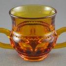 Indiana Glass Vintage Kings Crown Amber 2-Handled Sugar
