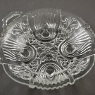 Vintage Indiana Killarney Crystal Clear Glass Round Relish Dish Bowl