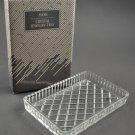 1990 Avon Glass Jewelry Tray 24% Lead Crystal