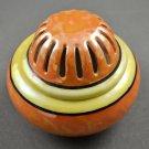 Vintage Japan Lusterware Orange Yellow Porcelain Incense Burner