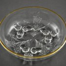 Vintage Glass Dish Acorn and Leaves wi/ Gold Trim