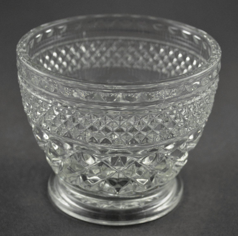 Anchor Hocking Wexford Vintage Clear Glass Sugar Bowl