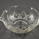 Depression Glass Hazel-Atlas Fancy Crystal Clear Ruffled Dessert Bowl