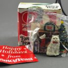 1993 Fancy Feast Happy Holidays Fireplace Christmas Ornament